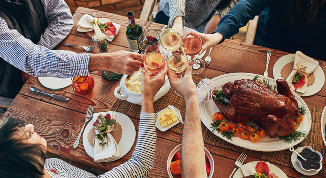 Cheers at the Thanksgiving table