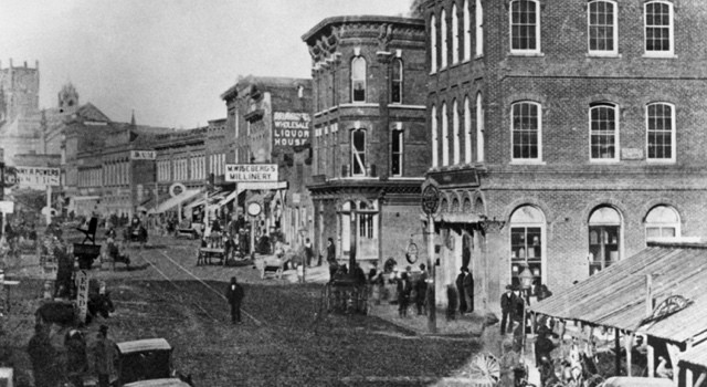 Peachtree Street in 1875